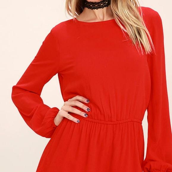 ca54689b7f7b Lulu s Dresses   Skirts - Lulu s Red Backless Romper (Small)